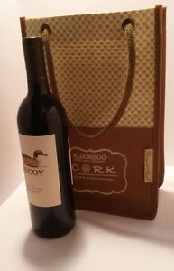 Wine Tote Bag Carrier CORK Red River Wine Event Picnic at Ascot RESORT Picnic