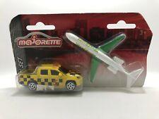 Majorette Volkswagen Amarok Yellow with Airplane City Eagle Set Model Diecast