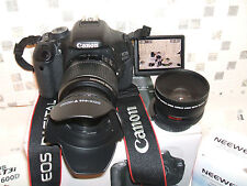 CANON EOS 600D BLACK with THREE LENSES