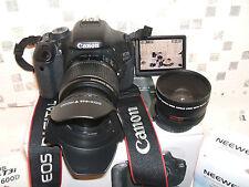 CANON EOS 600D Noir Avec Trois Lentilles