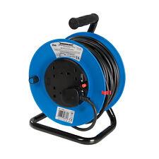 Silverline Cable Reel 240V Freestanding 13A 25m 4 Socket 465510