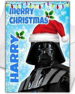 DARTH VADER Personalised Christmas Card - Star Wars Christmas Gifts