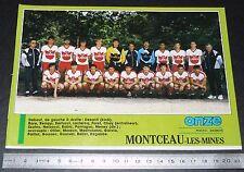 CLIPPING POSTER FOOTBALL 1987-1988 D2 ENTENTE MONTCEAU-LES-MINES BOURGOGNE
