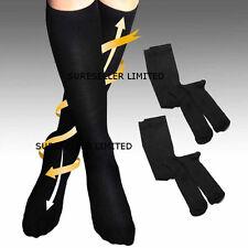 2 x Pairs Mens Womens Flight Travel Socks Compression Anti Swelling DVT Support
