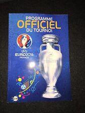 Official Programme Euro 2016 Frankreich France EM Frensh France Französisch