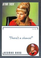 Star Trek TOS Archives & Inscriptions BASE Card #9 / 3 of 26 - YEOMAN RAND