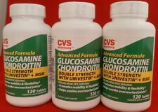 Glucosamine Chodroitin Double Strength 120 Tablets EACH (Pack of 3) 360 TOTAL