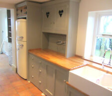 BESPOKE FREESTANDING KITCHEN PAINTED PINE UNITS OAK TOP *SPECIAL OFFER*