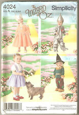 Simplicity Sewing Pattern 4024 Toddler Wizard of Oz Costumes Dorothy Sz 1/2-4