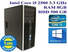 PC HP 8200 CMT Core i5 2500 RAM 8GB  HDD 500GB  Caja Torre