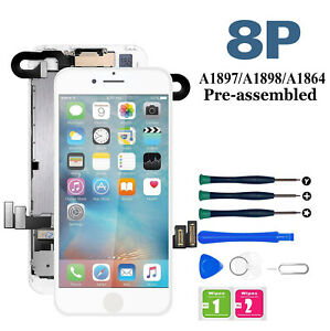 For iPhone 8 Plus LCD Touch Digitizer Display Screen Replacement Full Assembly