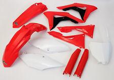 Honda CRF 450 2017 Motocross MX Complete Full Plastic Kit Red White Oem Colours