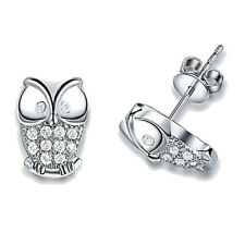 Owl Earrings Crystal Rhinestone Jewelry Lady Gift Women Fashion Ear Stud Charm