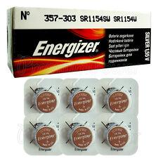 6 x Energizer Silver Oxide 357/303 batteries 1.55V D357 V357 SR44 Watch