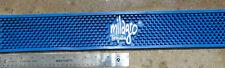"MILAGRO TEQUILA Blue Rubber Bar Spill Mat Runner - 21"" by 3.5"" Blue NEW **"