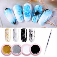 5pcs UR SUGAR Spider UV Gel Nagellack Kit Elastic Drawing UV Gel Dotting Brush