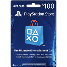 Sony US Playstation Network Playstation Store PSN USD 100 Dollar Code PS4 PS3