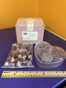 Avon Sweet Melody Music Box Clear Heart Container NIB Lot Of 5