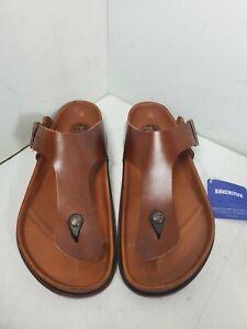 Birkenstock Ramses Avantgarde 1774 Premium Cognac Leather Sandals EU 45 Mens 11