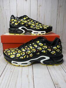 Nike Air Max Plus QS TN All Over Print Mens Size 10 Black Yellow 903827 002 New