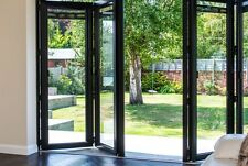 New, Quality Aluminium Bi Fold Doors Inc Glass 4 Panels Anthracite Grey RAL 7016