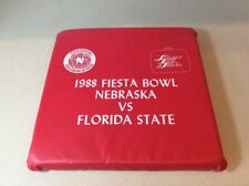 NEBRASKA CORNHUSKER V Florida State Football Seat Cushion 1988 Fiesta Bowl VTG