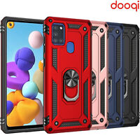 For Samsung Galaxy A21s/A21 Shockproof Magnetic Ring Holder Military Armor Case