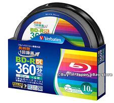 Original 10 Verbatim Bluray BD-R DL 50GB 4x Speed Inkjet Printable Blu-Ray Disk