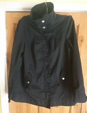 H&M Stylish Black Full Zip Hip Length Jacket UK 12 EUR 38 BNWOT