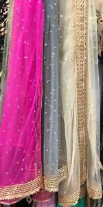 Indian Pakistani Net gotta work Dupatta perfect gift for women and girls