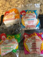 Vintage Lot of 4 McDonald's Disney 90s Animated Happy Meal Book Train Toys