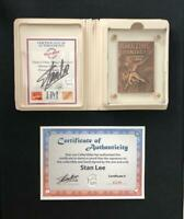 AMAZING FANTASY #15 SIGNED BY STAN LEE HIGHLAND MINT BRONZE CARD SPIDER-MAN 1