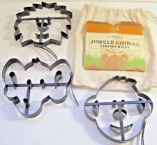 Williams Sonoma Kids Jungle Animals Pancake Molds Set 3 Monkey Elephant Lion Lot