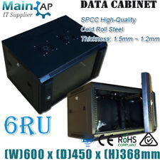 6RU 600x450MM WALL MOUNT NETWORK SWITCH MONITOR ROUTER DATA MINING CABINET
