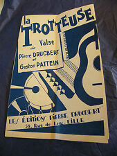 Partition La trotteuse Valse Drucbert Pattein Music Sheet