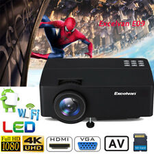 Excelvan LED Projector 3D Home Theater 3600lumens FHD 1080P 4K Android WIFI US