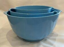 Rare Vintage 70s Rosti Mepal melamine mixing bowl set Maersk blue