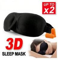 2PACKS 3D Travel Sleep Eye Mask Soft Memory Foam Padded Cover Sleeping Blindfold