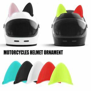 2PCS/Set Car Motorcycle Helmet Cat Ears  Full Face Off Helmet Decoration Sticker