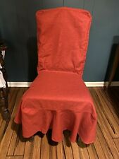 Pottery Barn Linen Chair Cover Poppy Red