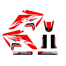 Honda CRF80 graphics kit red highlight