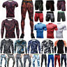 Men Compression T-Shirts Tops Long Pants Base Layer Skins Sports Shorts Trousers