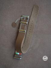20 mm Cinturino nato Saffiano Premium 100% Handmade In Italy Leather Watch Strap