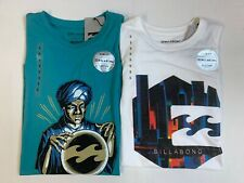"""New, Lot of 2, Billabong, """"Fortune Teller"""" T-Shirts, Small, Slim Fit"""