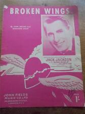 VINTAGE 1952 PIANOFORTE SPARTITO & PAROLE LE ALI SPEZZATE da Jack Jackson
