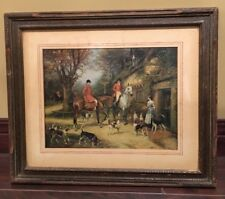 Vintage Print Gerlach Barklow Co At The Sign Of The Fox 1930s Beagles Horses