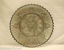 "Vintage Pioneer~Smoke Carnival by Federal Glass 11-3/8"" Sandwich Plate / Platter"