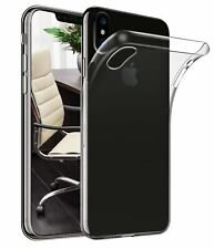 For Apple iPhone XS 5.8 Gel Case and Glass Screen Protector Slim Cover Clear