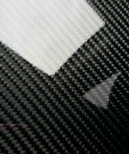 "Carbon Fiber Fiberglass Panel Sheet 6""×54""×1/32"" Glossy One Side"