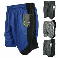 Mens Workout Gym Shorts GT Running Basketball Dry Fit Pockets New Stripes